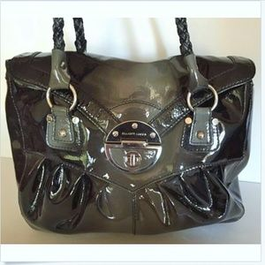 ELLIOTT LUCCA  Silver twist lock closure. Handbag